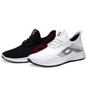 2020 Masculinos Sneakers malha Casual Shoes Shoes Lac-up Homens Lightweight confortável Walking respirável Sneakers Zapatillas Hombre