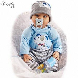 2020 Новое прибытие Allaosify bebés 55см Мягкие силиконовые Reborn малышей Детские куклы Рождественские подарки Силиконовые о чудо куклы Детские куклы игрушки Ba blGY #
