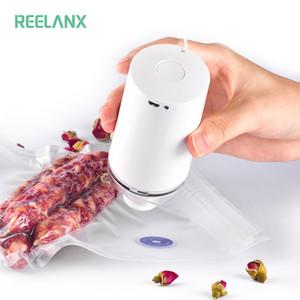 REELANX portátil sellador al vacío de la máquina con 5 o 10 de vacío cremallera bolsas de mini bomba portátil para Sous Vide precisión Cooker