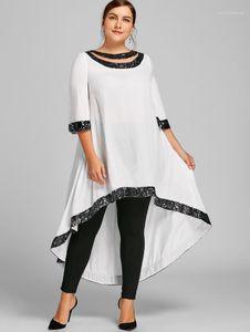 Размер рынк Luxury Designer Summer Платья Сыпучие Щитовые с коротким рукавом Sequins Сплошной цвет платья женской одежды Плюс