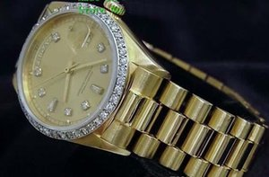Brand New Quality Day-Date President 18k Yellow Gold Watch w Gold Diamond Dial Bezel Men's Sport Wrist Watches Automatic Mens Watch