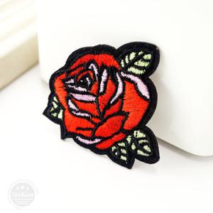 Rose (Size:5.0x5.4cm) DIY Cloth Badges Mend Decorate Patch Jeans Bag Hat Clothes Apparel Sewing Decoration Applique Patches