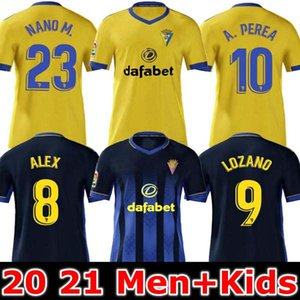 2020 2021 Cadiz Soccer Jerseys Cádiz CF 20 21 Lozano Alex Bodiger Juan Cala Camiseta Ascenso A Tiga Santander de Fútbol Shirts