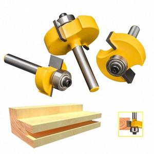 1pc 1/4 T Tipo lavorazione del legno Router Bit Shank Tenon Cutter Per Legno mortasatura fresa CNC comune combinazione di bit c3qJ #