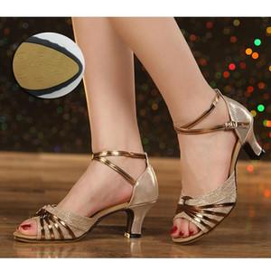 chaussures de danse pour les femmes Vente chaude Marque moderne des chaussures de danse Salsa Salle de bal Chaussures Tango Latin pour filles Mesdames bout ouvert