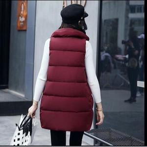 New arrivals Autumn Winter Womans Long Vest Jacket Fashion Slim Down Cotton Waistcoat Woman Vest Coats Plus Size for girls AC158