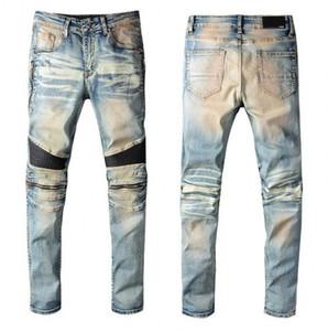 Men&#39s Distressed Skinny Jeans Fashion Mens Jeans Slim zipper Mens Denim Pants Hip Hop Top Quality Men Jeans