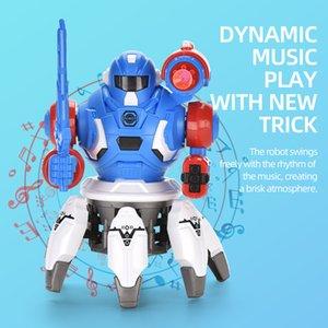 Yaratıcı Elektrikli Dans Robot Oyuncak Işık Ve Narin Altı Pençe Balık Dans Robot Oyuncak Moda Işık Müzik Elektronik hayvan Soğuk