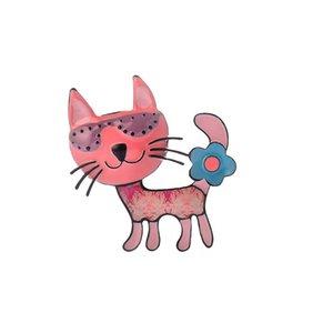 Broche de broches para las mujeres Broche Vintage Blue Cat Colllar Pin Corsage Bohemia Pet Animal Animal Brooche Insignias Accesorios de Joyería