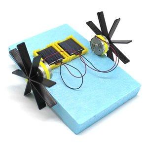 Outil Gizmo Paddle roue assemblé construction Kits Toy enseignement Blocs d'énergie navire Jouets main physique solaire Diy mCGIA mylovethome