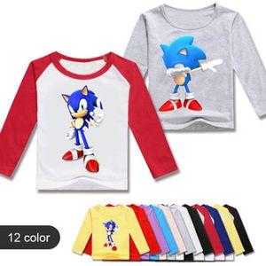 Cartoon Boys T Shirt Kids Sonic the Hedgehog Tshirt Lovely T-Shirts for Girls Child T-Shirts Children Clothing 2020 Tee Tops