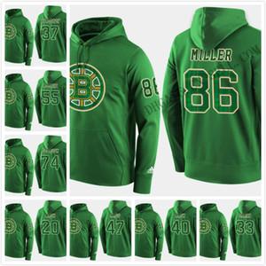 2019 St. Patricks Day sudaderas Jersey Boston Bruins 88 David Pastrňák 33 Zdeno Chara 63 Brad Marchand Charlie Mcavoy Krejci Jake DeBrusk
