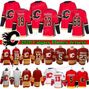 2020 Nueva hockey Calgary Flames 13 Johnny Gaudreau Jersey 19 Mateo 23 Tkachuk Sean Monahan 68 Jaromir Jagr 5 Mark Giordano Hocekey jerseys