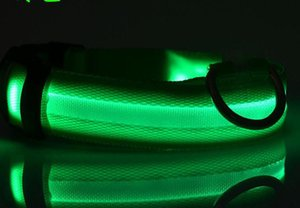 Pet Led Collar Usb Charge Flashing Light For Cat Dog Glow In The Dark Adjustable Led Collar Via Dhl