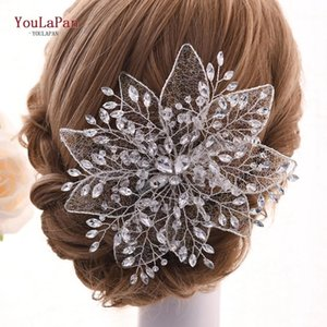 YouLaPan Hollow Flowers Jewelled Headband Luxury Wedding Headband Floral Headpieces Gorgeous European Tiara Hair Jewelry HP217