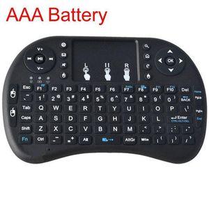 2 .4g Mini teclado I8 sem fio com touchpad Air Mouse Aaa Bateria para Tablet PC Andriod Tv Box Htpc / IPTV