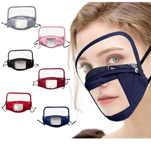 Les masques de créateurs amovible transparent visuel sourds-muets masque tissu de coton de masque de coton pur de protection intégré DHC996