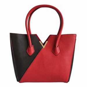 Neue französische Frauen Handtaschen Hohe Qualität Leder Doppelfarb Einzelner Umhängetaschen Messenger Bags Mode Kreuz Body Taschen