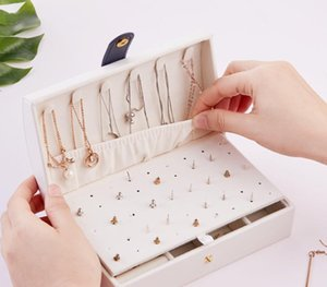 Portable PU Jewelry Box Zipper Bracelet Earrings Necklace Rings Storage Case Cabinet for Travel11