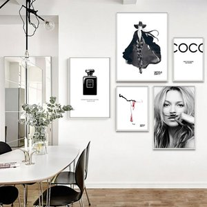 Poster And Prints Vogue Canvas Painting Modern Girl Perfume Fashion Dress Wall Art Living Room Picture Home Decoration Cuadros