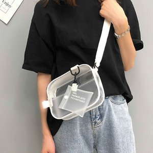 Bentoy Transparent Mädchen Messenger Bag PVC wasserdichte verstellbare Messenger Bags Solide Frauen Schultertasche Schönheit Mode-Hand