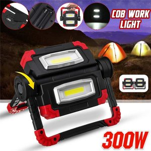 Led Portable Spotlight COB Led Work Light Rechargeable USB Battery Outdoor Light For Hunting Camping Latern