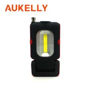 Aukelly USB قابلة للشحن LED ضوء العمل المغناطيسي حامل هوك repaire مصباح المرآب COB سيارة مع وانيت أداة المغناطيس