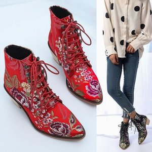 Foreign trade exclusively for ladies cotton boots with pointed toe thick heel Martin boots women's cotton shoes wholesale