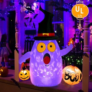 OurWarm Halloween Inflatables Ghost with LED Rotating Light for Halloween Decor Horror House Yard Decorations Halloween Props T200827