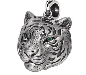 pure silver fashion accessories Thai silver domineering personality hollow out the tiger head ms retro male22