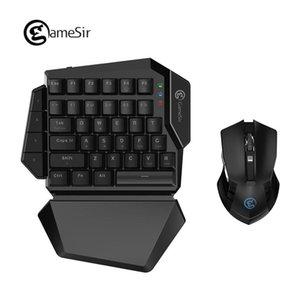 Cgjxs [Neu] Gamesir Z2 E -Sports Gaming Wireless Keypad Und Gm180 Maus Combo 2 .4ghz Ein -handed Blau-Schalter Tastatur für Fps Pubg Spiele T1