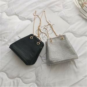 2020 New Women Glitter Evening Clutch Bag Mini Bucket Ladies Wedding Party Chain Handbag Prom Purse Fashion