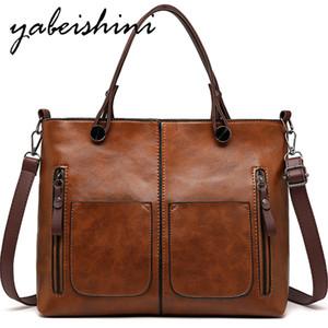 YABEISHINI Новой бренд Vintage Lady сумка конструктора женщин плечо сумка Известного двойной карман сумка Casual Tote Сумка Мешком Главная MX200817