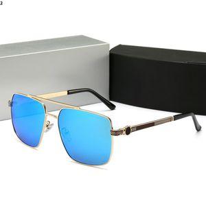 Sunglasses 03 New luxuosos para homens e mulheres Designer Sunglasses Sun mulheres vidro Quadro Pilot Revestimento 1 Espelho Lens