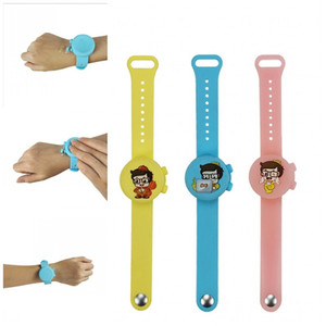 Hand Sanitizer Silicone Bracelet Fashion Wristband Fashion Watch Mix Colors Food Grade Safe Wash Free Comfortable Wearable For Kids 15ak F2