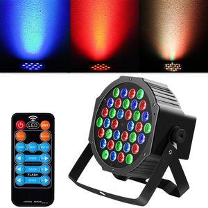 36W 36-LED RGB Uzaktan / Oto / Ses Kontrolü DMX512 Yüksek Parlaklık Mini DJ Bar Parti Sahne Lambası zekâ