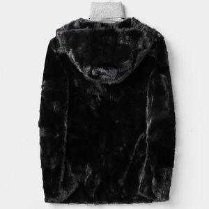 Mens Winter Coat Luxury Real Business Casual Outwear Top Quality Real Fur Hip Hop Furry Шинель Hoody куртка Человек 4XL