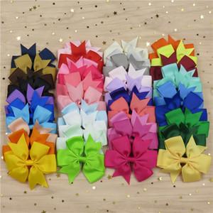 Carino Bande del nastro del Grosgrain Bow solido elastico 20PCS / Lot DURAG forcine 2020 Scrunchie coreana capelli accessori per la neonata