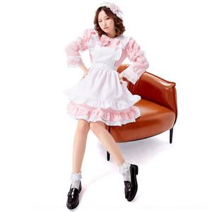 corj0 bjYFQ schwarz cafe Wanshengjie und weiß Magd Kleidung cosp Kleidung Lolita lange Mädchen weiche Hülse nette Prinzessin drei Farben nv yong fu n