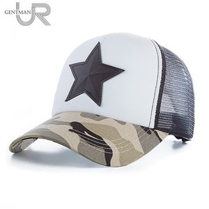 New 3D Five-pointed Star Embroidery Mesh Baseball Cap Fashion Summer Snapback Camouflage Hat Cap For Men & Women Leisure