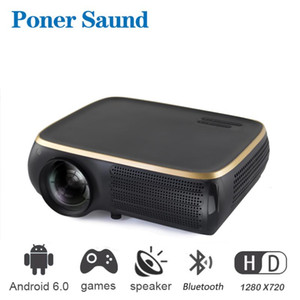 Poner Saund M8 Proyector LED Portable Mini Projector for Iphone Android Wifi Projector for Smart Home Movie Screen Proyectores