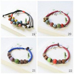 Designer Bracelet en céramique Perles charme Creative Handworkzstyle couple coréen Bracelet ornement Bijoux Charm Bracelet Homme 02 62Bi #