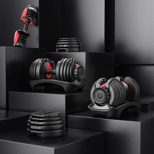 In Stock Adjustable Dumbbell 5-52.5lbs Fitness Workouts Dumbbells Weight Lifting Weight Build Tone Strength Muscles Outdoor Sports Equipment