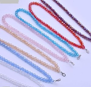 40cm 8mm crystal Beads for car Pendant Necklaces chain Choker for doll Jewelry with clasps