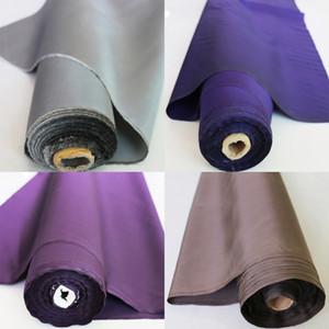 100cm * 114cm Akşam Elbise Kumaş Doğal İpek Tafta İplik Boyalı Gümüş Gri Bla Kahve Mor