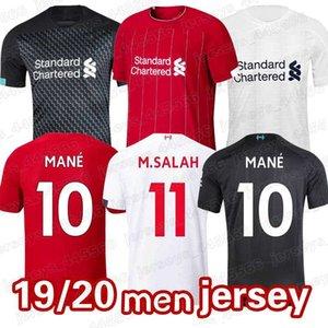 19-20 MEN GÖMLEK EURO BOYUT: S-2XL% 100 Tay Kalite Futbol Forma M.Salah A.BECKER Mane Firmino Liverpool Motosiklet Yarışı Giyim