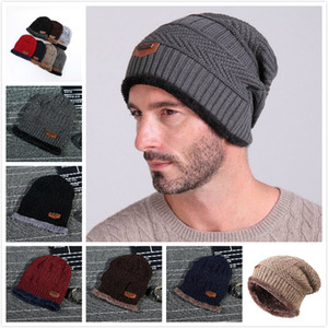 6 Colors Winter Beanie Hat Adult Size Warm Knit Hat Thick Knit Skull Cap For Men Women