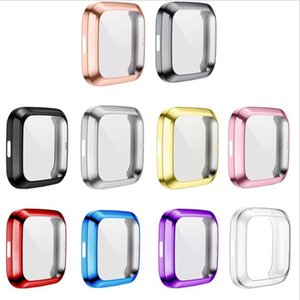 Soft Plating TPU Case Cover For Fitbit Versa 2  1 Super Slim Full Protection Silicone bumper frame Protecto Smart watch Accessories