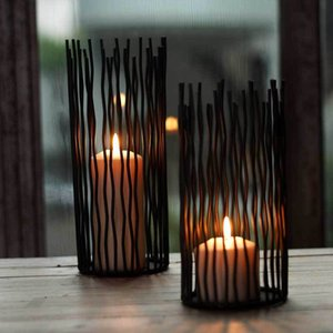Candle Holders 12pc Lot Metal Holder Home Decoration Candlestick Geometric Lantern Halloween Center Table Wedding European ZZT011