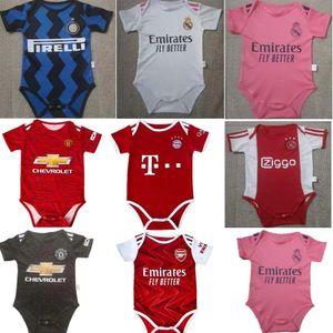 Ajax bebé jersey de fútbol Manchester United 2020 2021 bambin 6-18 meses bola infantil escuadra Body 20 21 ropa de arrastre del Real Madrid Futbol